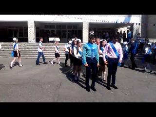 Флешмоб на последнем звонке. 11 класс, школа №2 г. Марьинка