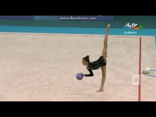 Яна Ярош, мяч. Чемпионат Европы 2014, Баку (Азербайджан).