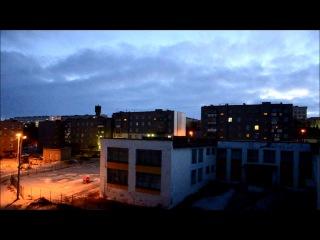 ночной г.Заполярный Мурманская область