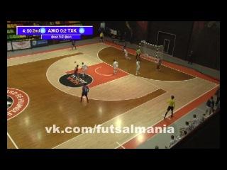 Курьезный гол - футзал мини-футбол futsal