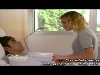 Виолетта 3 сезон 6 серия - Виолетта в больнице; Поцелуй виолетты и Леона