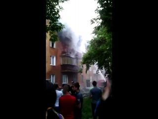 Пожар ул.Пионерская, 23. 9.06.2014г.