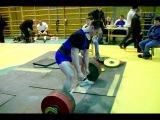 Роман Мацкевич. Становая тяга. 280 кг в в/к до 110 кг на первенстве Беларуси среди юниоров - 2007.