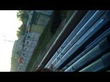 на крыше поезда