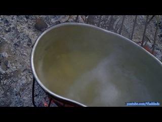 Готовим суп на костре (Туристический)