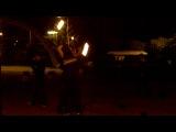 огонь, паца с района, красавчик,трюки с огнем