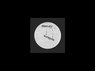Транзит Меркурия по диску солнца вид с Марса