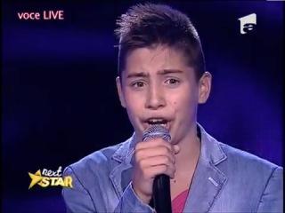 Valentin Poenariu de 13 ani din Mioveni interpreteaza superb Je t'aime