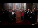 Византијски хор цркве Васкрсења Христовог у Албанија Тирани на данашњој Литургији у Дечанима 13 5 2014