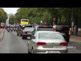 Кортеж Путина едет по улицам Вены