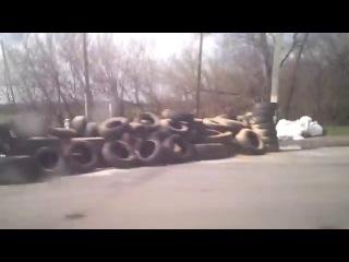 15 04 2014 БТР заполонили г.Изюм (Харьковская область) Армия Украины стягивает бронетехнику в Изюм для