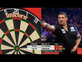 Michael van Gerwen vs Gary Anderson (2014 Premier League Darts / Week 13)
