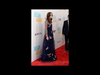 Keira Knightley, Megan Hilty, Brie Larson at Begin Again Premiere in NY
