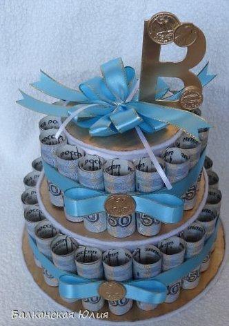 Как сделать торт из денег на свадьбу своими руками