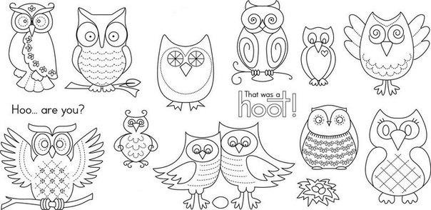dibujos de buhos para colorear e imprimir