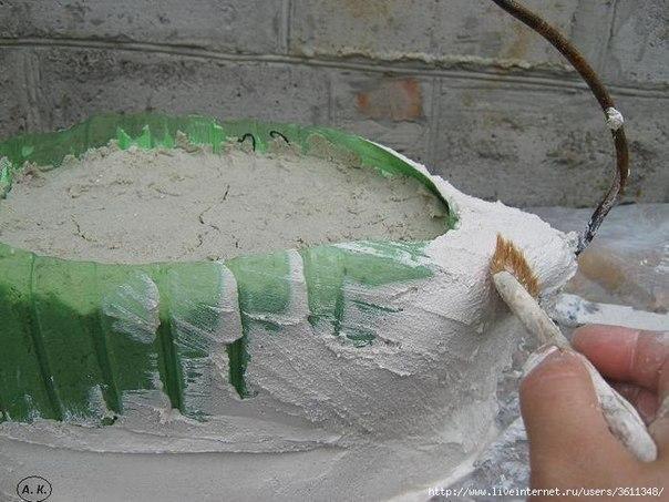 Ideas para el hogar maceta cisne de la web paso a paso for Baldosas para el jardin