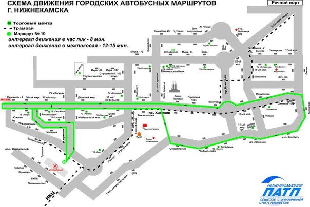 Доработанные схемы маршрутов