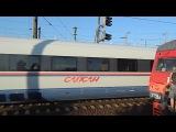 Электропоезд с зацепером и сдвоенный