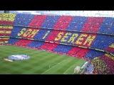 100 тысяч болельщиков поют гимн футбольного клуба Барселона