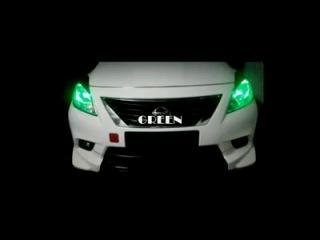 Мультицветная лампы Т10 в габариты авто