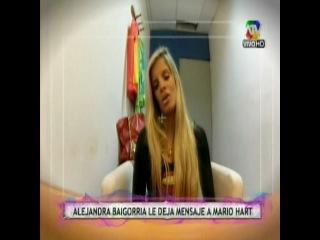 Alejandra Baigorria sorprendió a Mario Hart por su cuarto aniversario