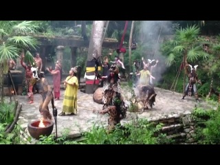 шоу обрядов индейцев майя.Мексика.Канкун.1.