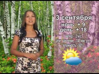 Прогноз погоды на 3 сентября от ТК