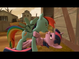 [mlp r34 3.0] rainbow dash and twilight kiss