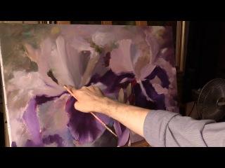 Небольшой урок живописи маслом от Олега Буйко. Ирисы. Alla Prima Oil Painting