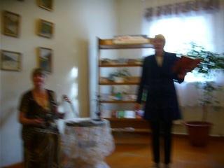 Наталья Фёдоровна Попова, деревня Шотова! Выступление в Карпогорской библиотеке вечером 11 июля 2014 г.