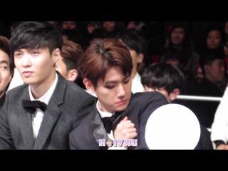 [FANCAM] Baekhyun Focus (frightened of himself) 깜짝놀랫송ㅋㅋㅋMAMA 2014
