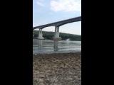 Прыжок с моста Лужники р. Ока (02.08.2014)