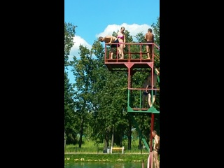 Прыгаю с Ногинской вышки))Вспоминаем детство))