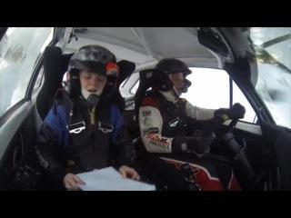 Petter Solberg and co-driver Oliver Solberg (Finnskogsvalsen rally 2015)