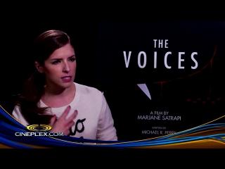 Ryan reynolds, anna kendrick on the voices - cineplex interview