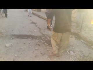 Последствия авиаудара Иракских ВВС по городу Эль-Фаллуджа. 18+