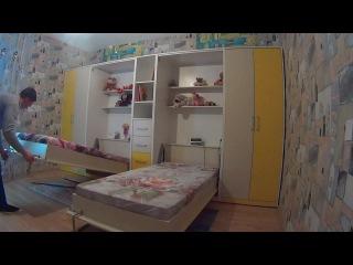 Мебель-трансформер от ДомВелл. Шкаф-кровать в детскую