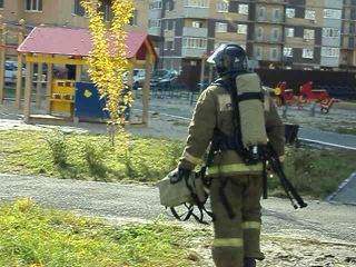 Пожар в Тюмени на ул. П.Артамонова (07.10.2014г.)