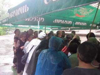 Одесса 24 08 2014 г Не смотря на дождь митинг антимайдана состоялся