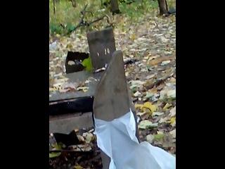 сигнальный пистолет сталкер  м 906 приспособленный под высрел свинцовой пулей 4 см сосновой доски на вылет