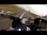 Гонка мотоциклов на скорости 300 кмч БМВ с1000рр и Хонда СБР 1000 РР Репсол Файрблейд Illegal motorcycle race over 300 km
