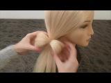 Причёска на каждый день-в школу за 5 минут-БАНТИК из волос для ТОНКИХ волос.