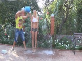 Ice bucket challenge - Topless DJ Aurika