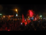 цветной фонтан в городе Волжский