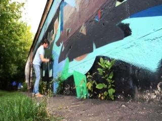 Как замазать старое граффити и сделать новое:)
