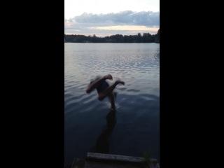 Тигр прыгает из клетки, а акула прыгает в воду