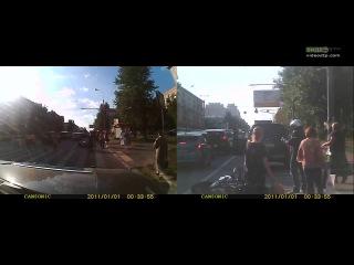 Мото vs Авто. Mitsubishi pajero подрезал Kawasaki er-6n | ДТП авария