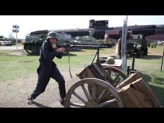 Стрельба из пулемёта MG-34.