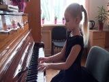 Игра на пианино! Елизавета Дорошенко