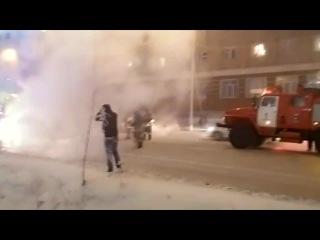 В Якутске иномарка сгорела на глазах у хозяина 13.11.2014